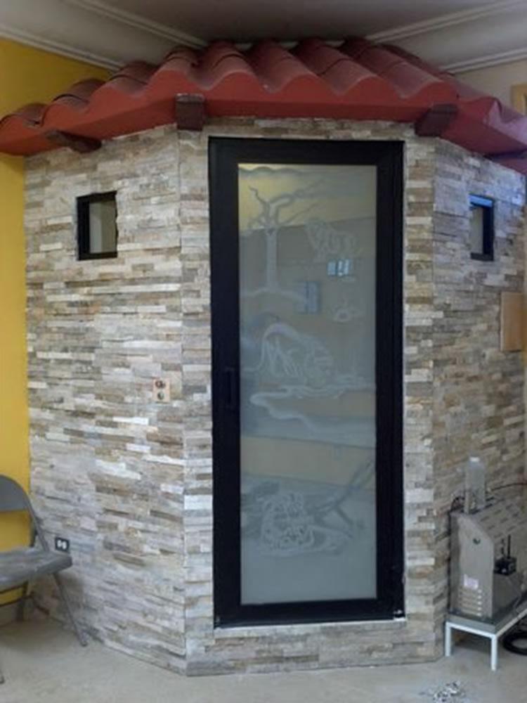 Moliglass for Puerta de madera con marco